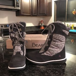 Bearpaw Aretha Charcoal and Purple Boot